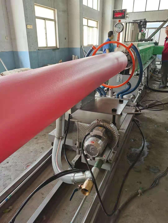 Test PS foam sheet extruder machine for Africa customer
